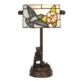6050 Bureaulamp H28cm Cat & Hummingbird