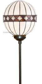 67048 Vloerlamp met Tiffany kap Fargo Ø25cm