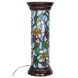 5822 Tiffany lamp zuil H62cm Ø26cm Bran
