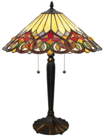 COT07 Tafellamp Tiffany H60cm Ø42cm Sydän