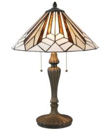5897 Tafellamp H61cm met Tiffany kap Ø40cm Astoria Brown