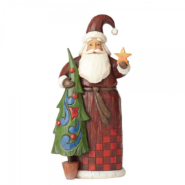 """Folklore Santa With Tree""  H21,5cm Jim Shore"