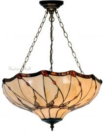 5345 SU3 Hanglamp Tiffany Ø50cm Black Butterfly