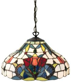 5919 Hanglamp Tiffany Ø31cm Merlot