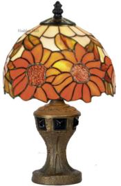 Y8327 9891 Tafellamp Tiffany H33cm Ø20cm Sunflowers