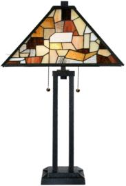 7887 Tafellamp Architect H73cm met Tiffany kap 43x43cm Falling Water