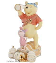 "Winnie The Pooh & Piglet ""Pirate Adventure"" H17,5cm Disney by Lenox 820464"