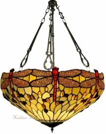 1102 FCL Hanglamp Tiffany Ø48cm Beige Dragonfly