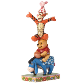 "EEYORE POOH TIGGER PIGLET ""Built by Friendship"" H 21cm Jim Shore 4055413"