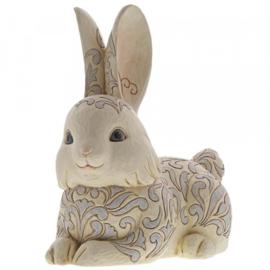 White Woodland Bunny Garden Statue H27,5cm Jim Shore 6004768