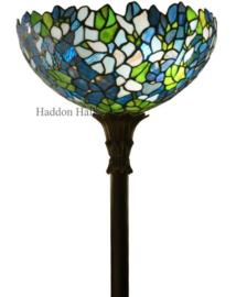 KT14V FL395 Vloerlamp Zwart H175cm met Tiffany kap Ø36cm Violet