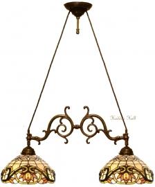 5776 Hanglamp met 2 Tiffany kappen Ø30cm Pendragon