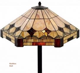 5422 5564 Vloerlamp Tiffany  Ø58cm Brighton   Vierkante voet