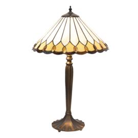 5988 Tafellamp Zwart H62cm met Tiffany kap Ø40cm Klasika