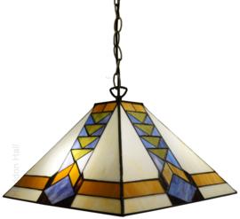 7855 Hanglamp Tiffany 37x37cm Pyramide