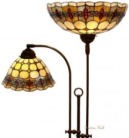 8828 5416 Vloerlamp met 2 Tiffany kappen Ø26 & Ø40cm Victoria