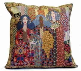 """Gustav Klimt Kussen 45x45cm """"Aladdin"""" Gobelin Geweven"""