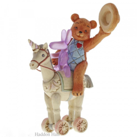 Heigh Ho Squeaky - Button & Squeaky on Unicorn H17,5cm Jim Shore 6005129
