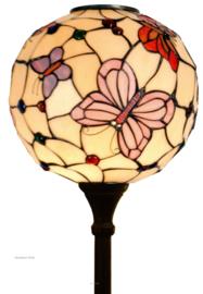 1169 Vloerlamp H188cm met Tiffany kap Ø35cm Pink Butterfly