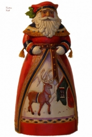 """Old-fashioned Holiday"" H26cm Jim Shore  4022922 Lapland Santa uit 2011"