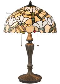5923 Tafellamp Tiffany H60cm Ø40cm Magnolia