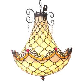 6032 Hanglamp Tiffany Ø41cm Baroque Pearl