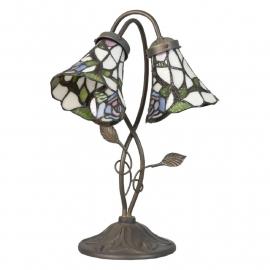 5748 Bureaulamp Tafellamp met 2 Tiffany kappen