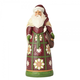 Santa with Bag  Statue H 50 cm ! Jim Shore 4059403 Supersize Kerstman Groot