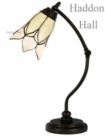 8100 Bureaulamp H50cm met Tiffany kap Ø16cm Lovely Flower White
