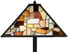 7978 Vloerlamp Zwart H164cm met Tiffany kap 43x43cm Falling Water