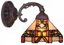 8826 8829 Wandlamp Tiffany kap Blerick