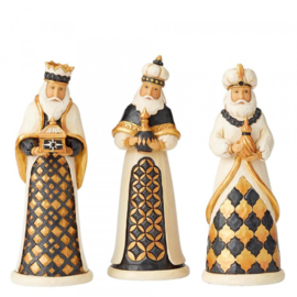 """Black & Gold"" Three Kings Set H16,5cm Jim Shore 6004195"