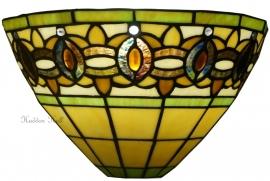 5802 Wandlamp Tiffany B30cm Schelpmodel Olive