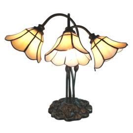 6029 Tafellamp H63cm  met 3 Tiffany kappen