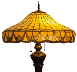 5767 Vloerlamp Bolling met Tiffany kap Ø58cm Marcus