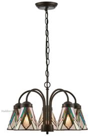 73093 Hanglamp met 5 Tiffany kappen Ø13cm  Astoria