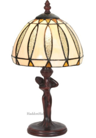5973 Tafellamp Jugendstil Dame H34cm met Tiffany kap Ø19cm Moanne