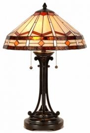 5477 Tafellamp Tiffany H60cm Ø41cm Toppin