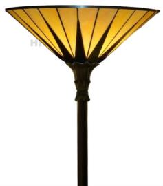 TG08 FL395  Vloerlamp Uplight H172cm met Tiffany kap Ø42cm Dark Star
