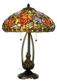 KT2401 Tafellamp Jugendstil H60cm met Tiffany kap Ø40cm Hague