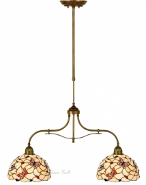 770-700 Hanglamp B75cm met 2 Tiffany kappen Ø30cm Pink Butterfly