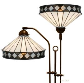 5198 Vloerlamp met 2 Tiffany kappen Ø30cm Fargo