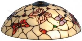 5436 Kap Tiffany Ø30cm Pink Butterfly