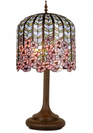 5375 Tafellamp Tiffany H84cm Ø40cm Wisteria Pink