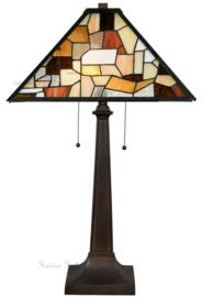 7978 Tafellamp  H75cm met Tiffany kap 43x43cm Falling Water