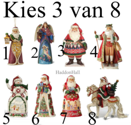 Set van 3 Jim Shore Hanging Ornament - Kies 3 van 8