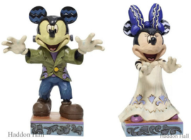Mickey & Minnie Halloween H13,5cm Set van 2  Jim Shore beelden