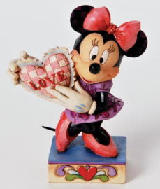 "MINNIE ""With Heart"" H 11cm Jim Shore 4026085 uit 2012"