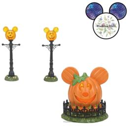 Mickey's Town Center & Street Lights - Set van 2 - Disney Village by D56