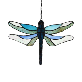 8112 Raamhanger Tiffany B28cm Dragonfly Brilliance